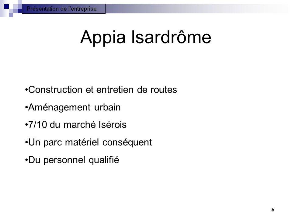 Appia Isardrôme Construction et entretien de routes Aménagement urbain