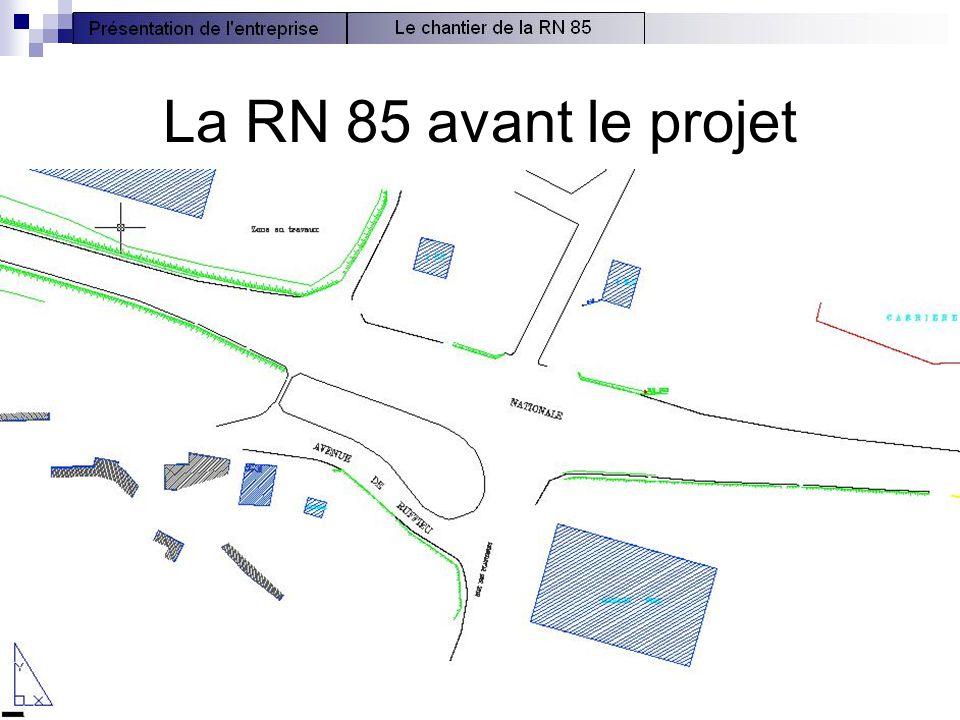 La RN 85 avant le projet