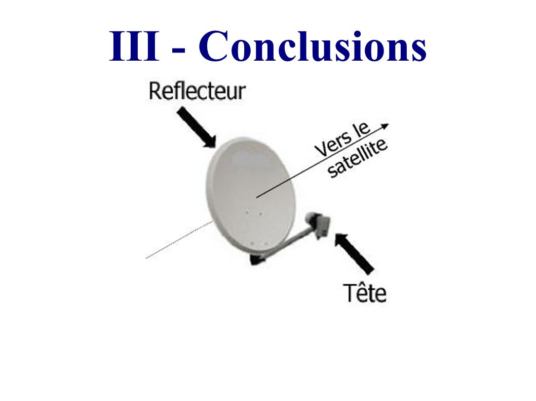 III - Conclusions