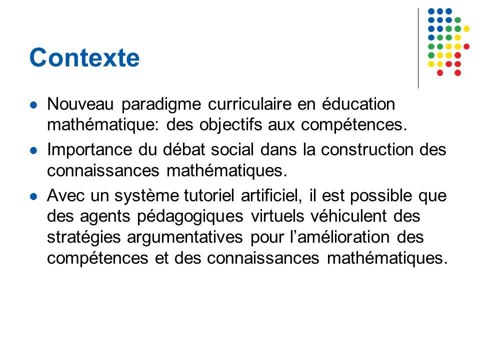Contexte Nouveau paradigme curriculaire en éducation mathématique: des objectifs aux compétences.