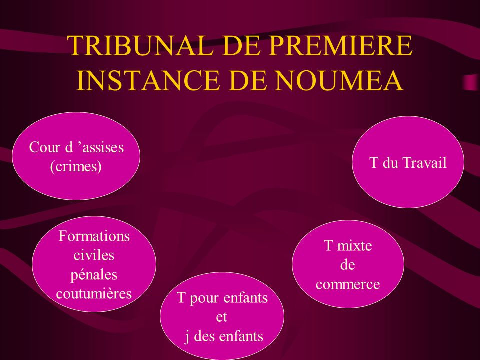TRIBUNAL DE PREMIERE INSTANCE DE NOUMEA