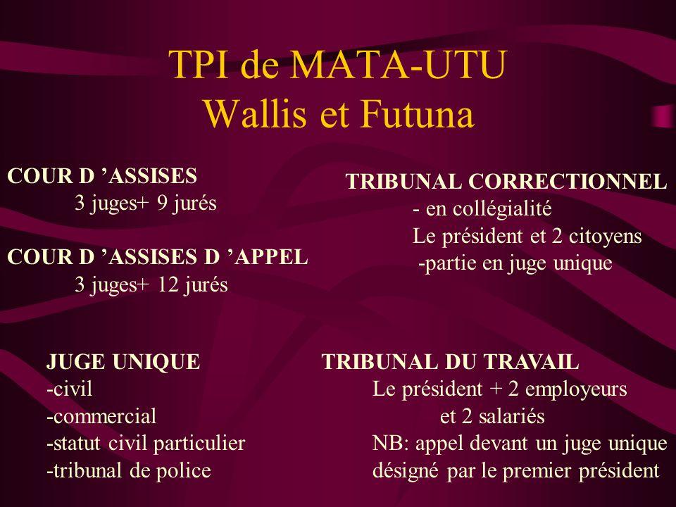 TPI de MATA-UTU Wallis et Futuna