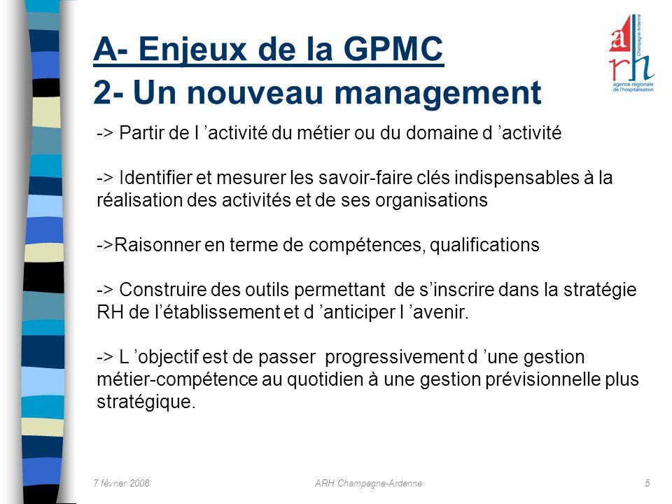 A- Enjeux de la GPMC 2- Un nouveau management
