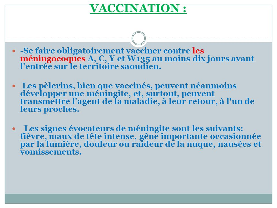 VACCINATION :