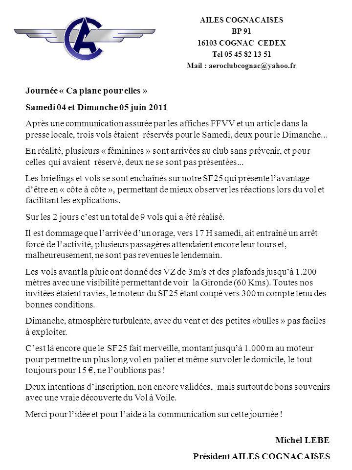 Mail : aeroclubcognac@yahoo.fr