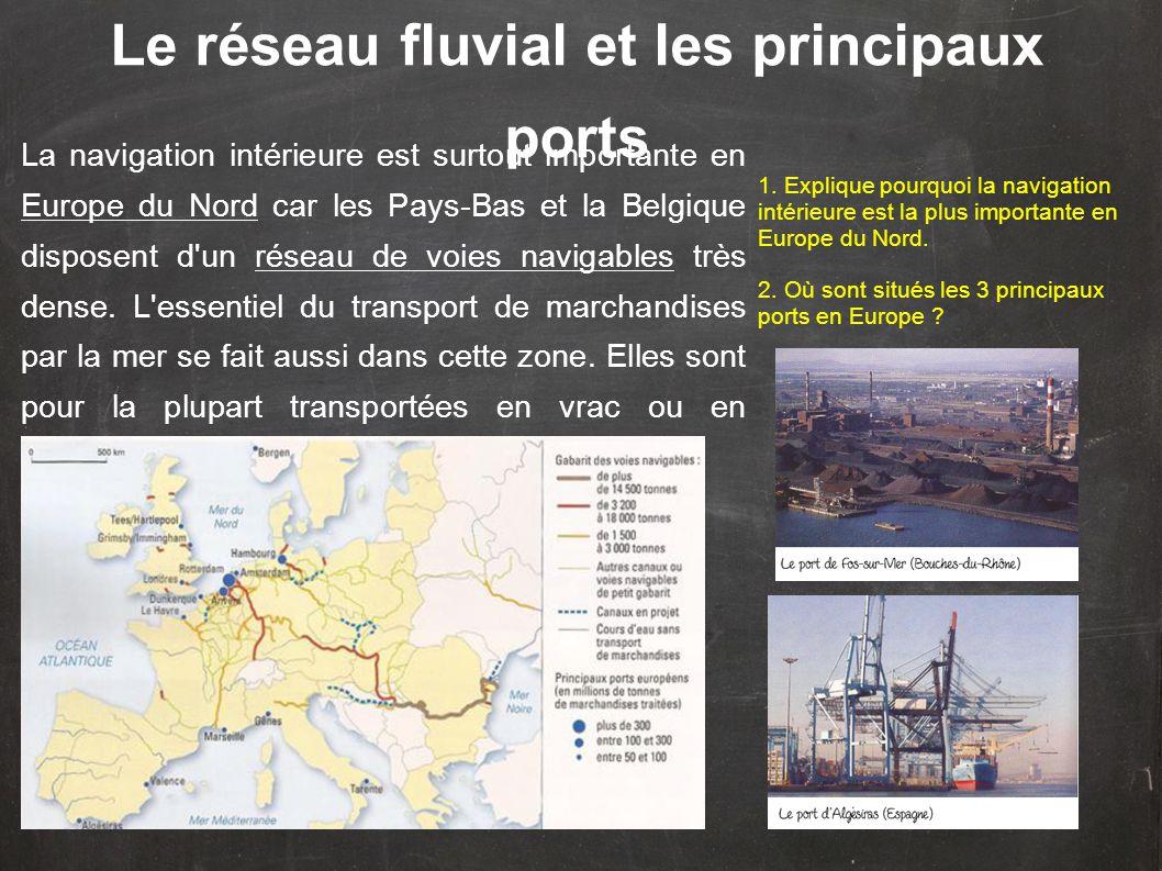 Le réseau fluvial et les principaux ports