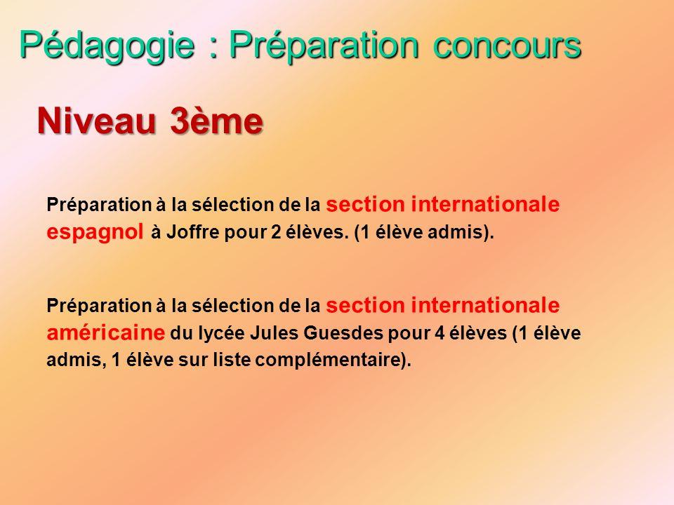 Pédagogie : Préparation concours