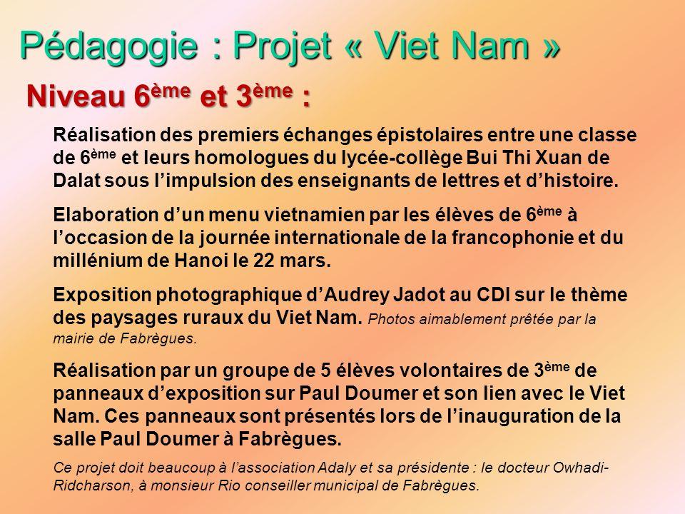 Pédagogie : Projet « Viet Nam »