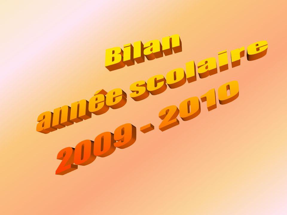 Bilan année scolaire 2009 - 2010