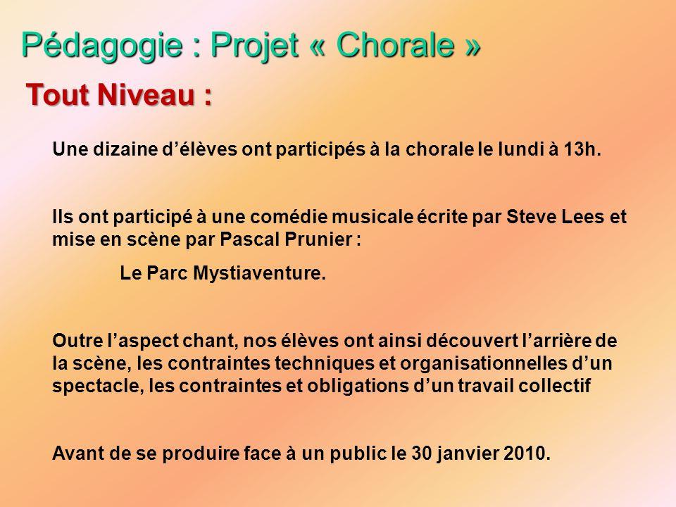 Pédagogie : Projet « Chorale »