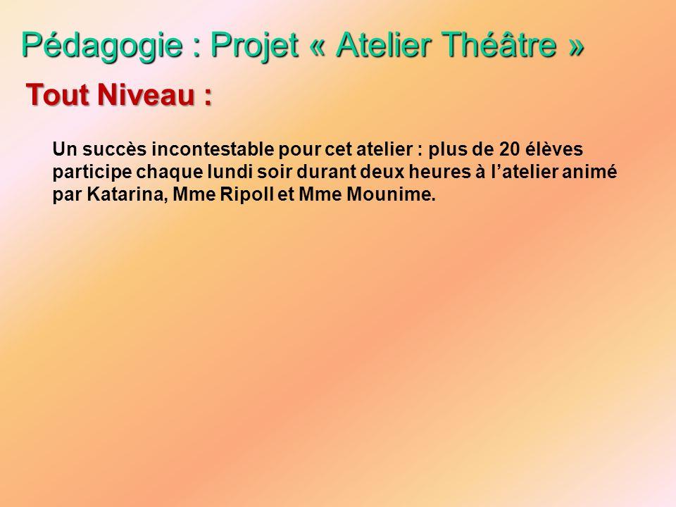 Pédagogie : Projet « Atelier Théâtre »