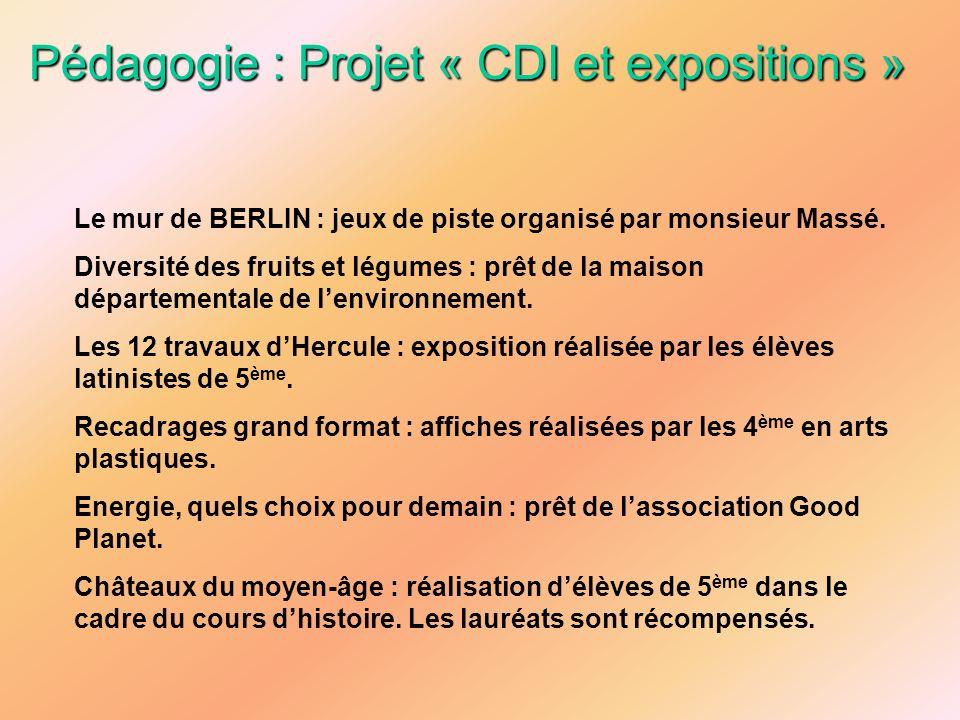 Pédagogie : Projet « CDI et expositions »