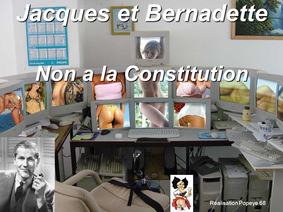 Jacques et Bernadette Non a la Constitution