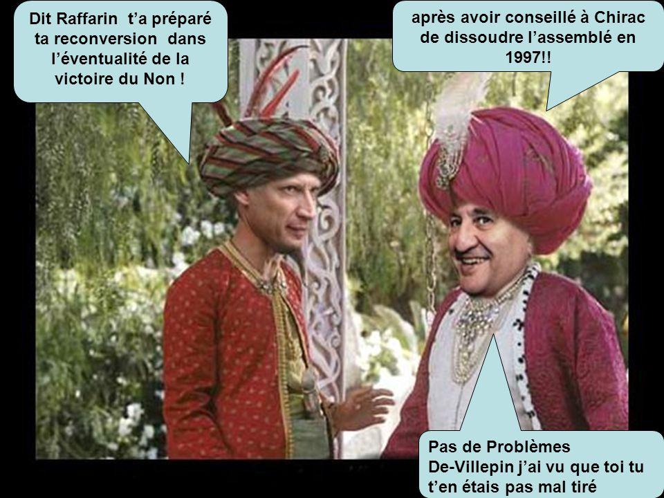 après avoir conseillé à Chirac de dissoudre l'assemblé en 1997!!