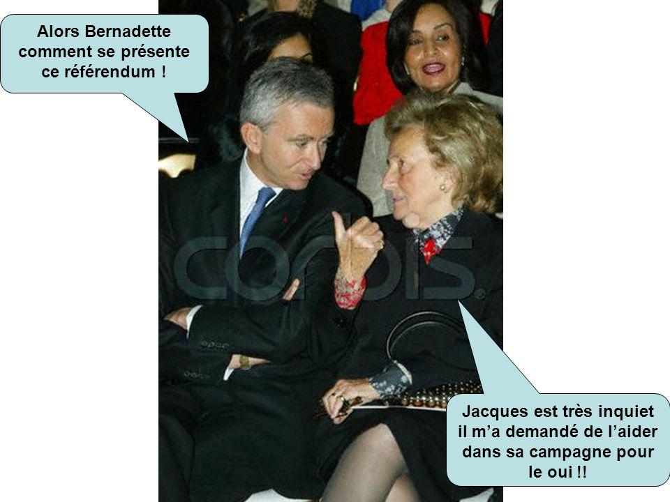 Alors Bernadette comment se présente ce référendum !