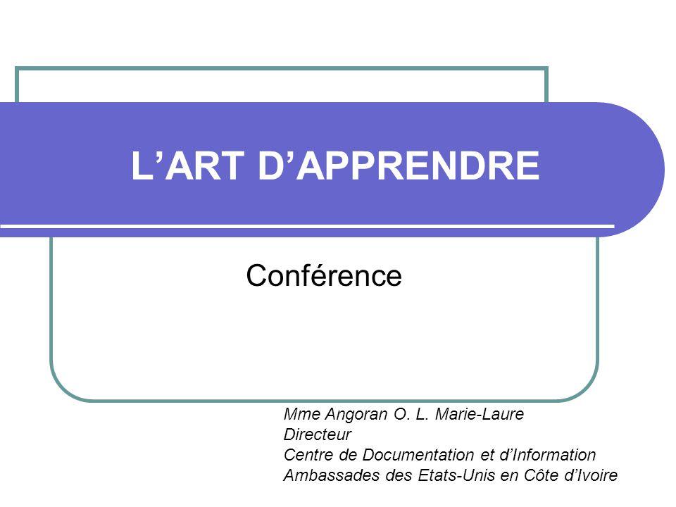 L'ART D'APPRENDRE Conférence