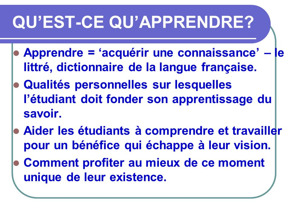 L art d apprendre conf rence ppt t l charger - Dictionnaire de l office de la langue francaise ...