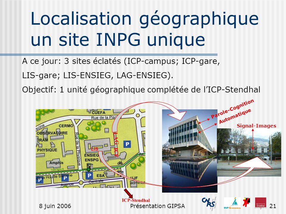 Localisation géographique un site INPG unique