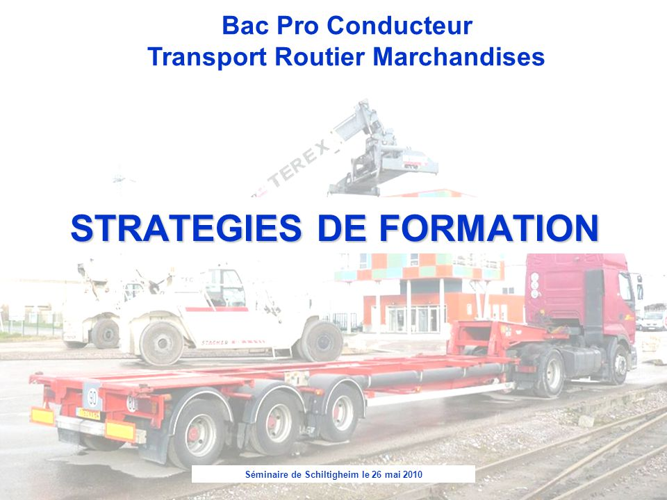 STRATEGIES DE FORMATION