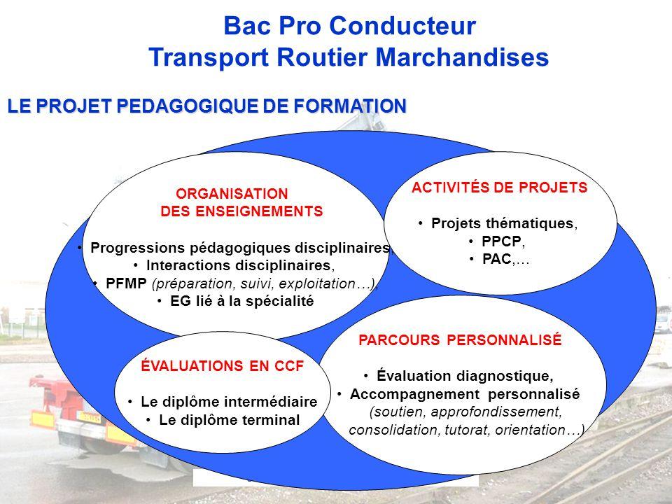 LE PROJET PEDAGOGIQUE DE FORMATION