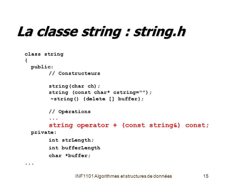 La classe string : string.h