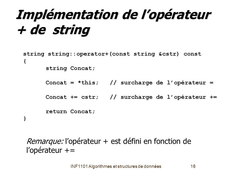 Implémentation de l'opérateur + de string