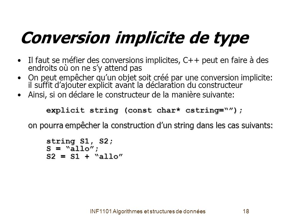 Conversion implicite de type