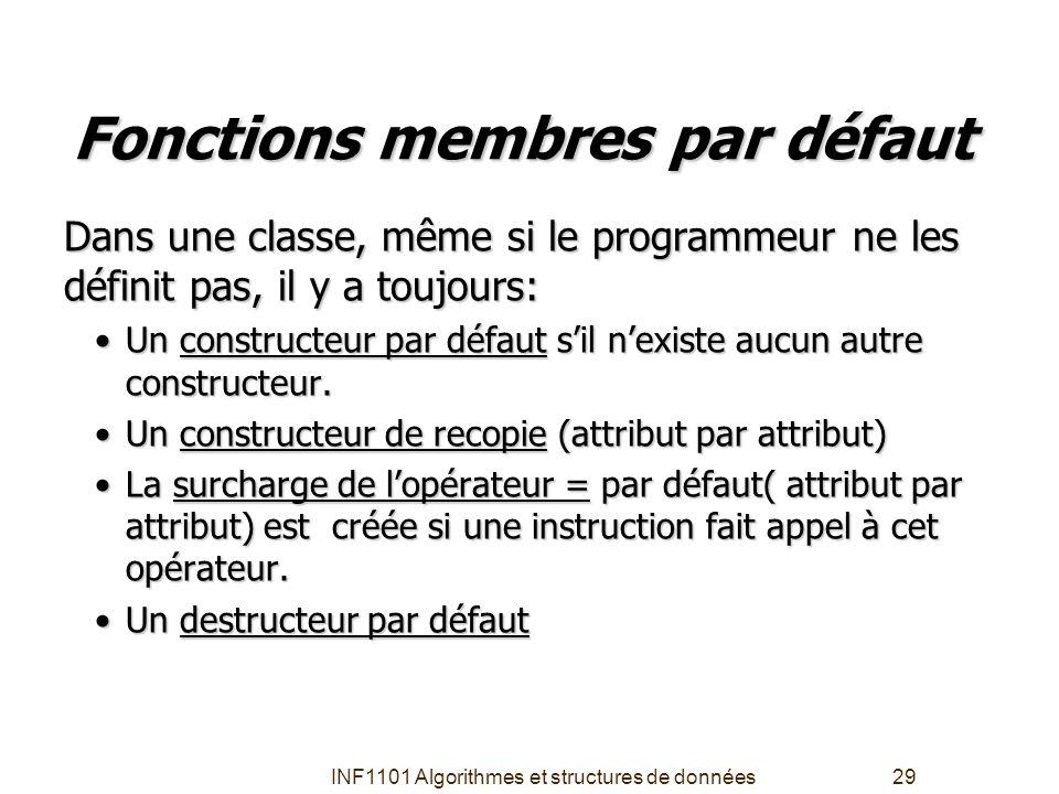 Fonctions membres par défaut