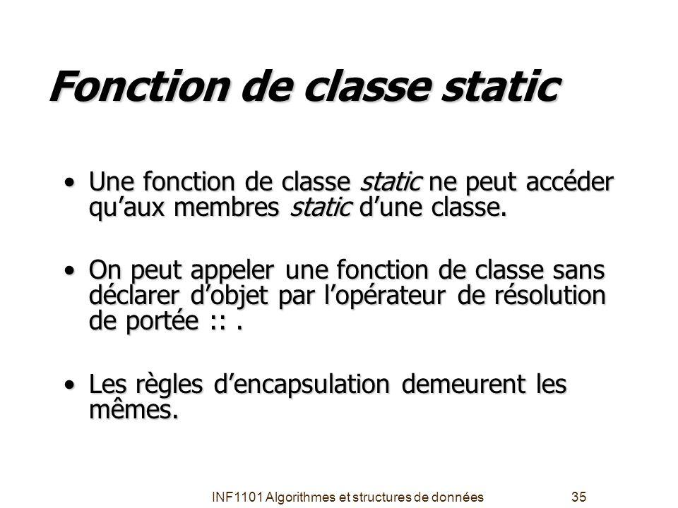 Fonction de classe static