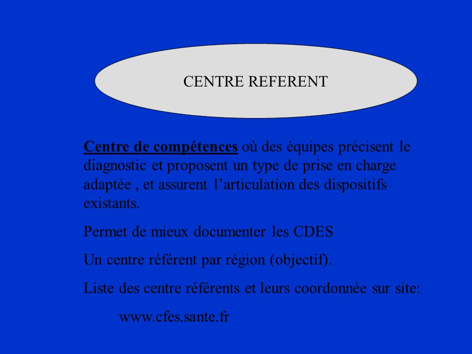 CENTRE REFERENT