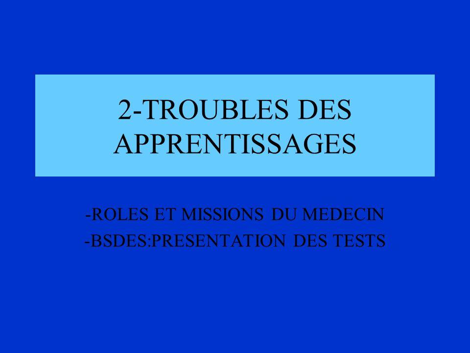2-TROUBLES DES APPRENTISSAGES