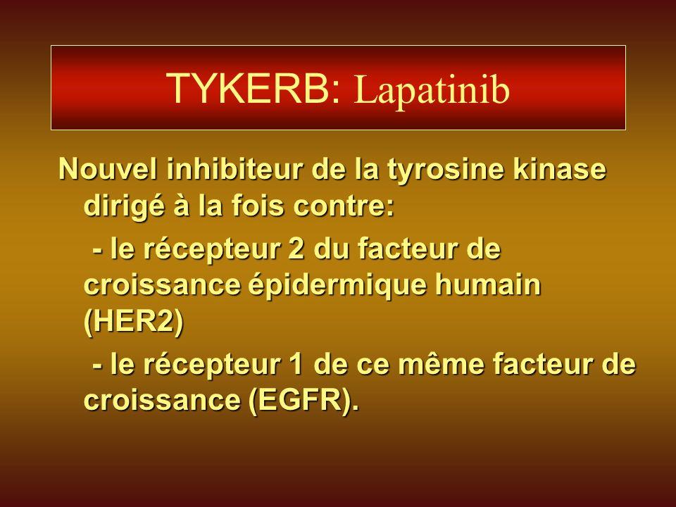 TYKERB: Lapatinib Nouvel inhibiteur de la tyrosine kinase dirigé à la fois contre: