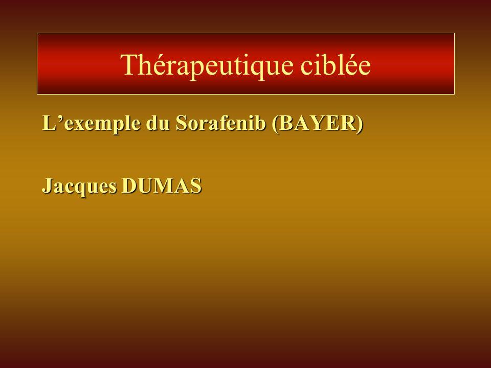 Thérapeutique ciblée L'exemple du Sorafenib (BAYER) Jacques DUMAS