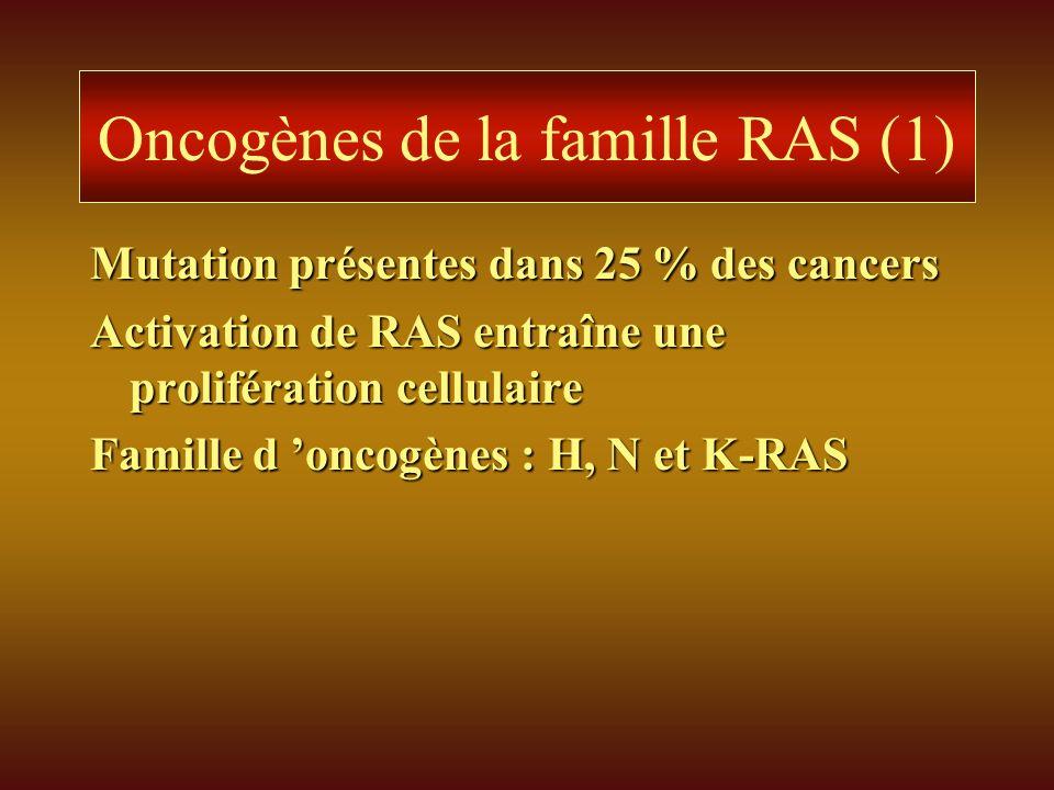 Oncogènes de la famille RAS (1)