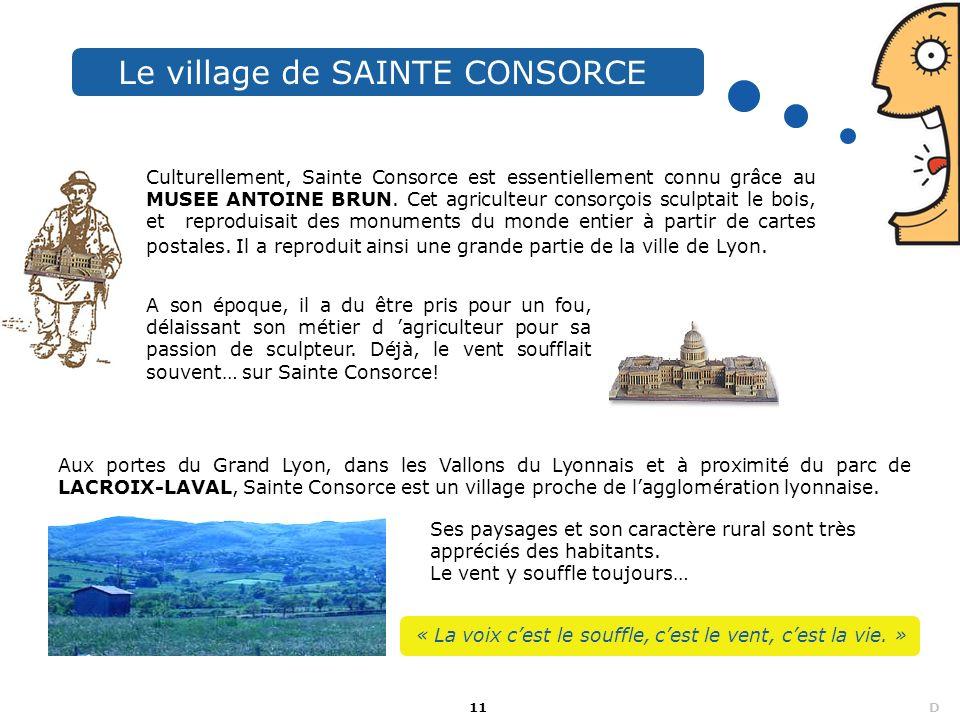 Le village de SAINTE CONSORCE