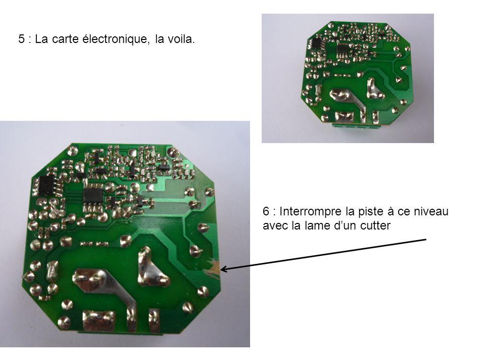 5 : La carte électronique, la voila.