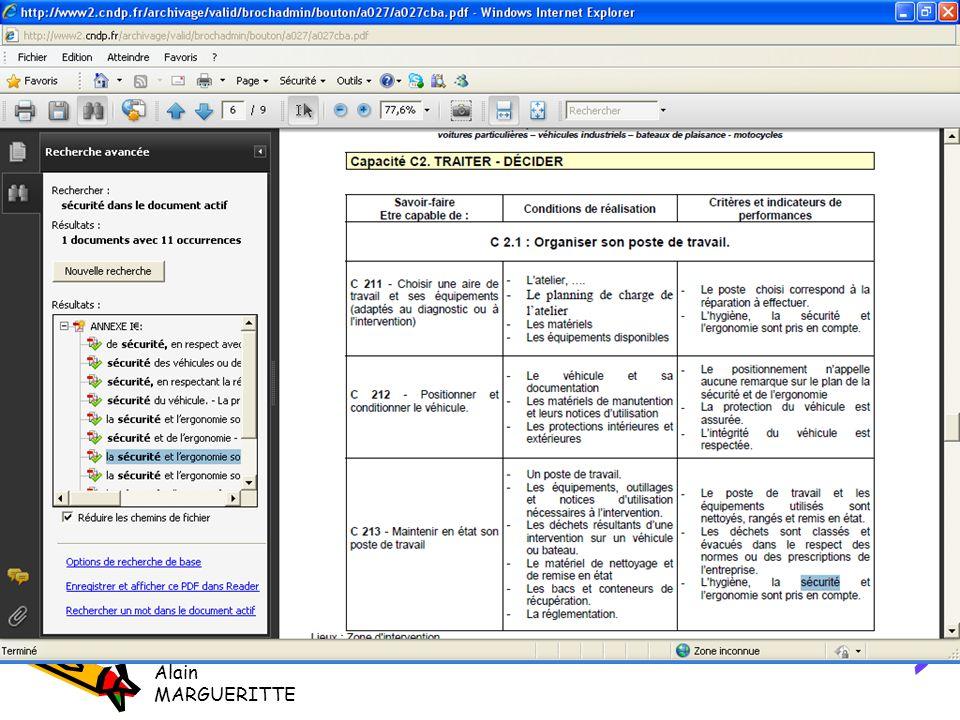 Exemple Alain MARGUERITTE