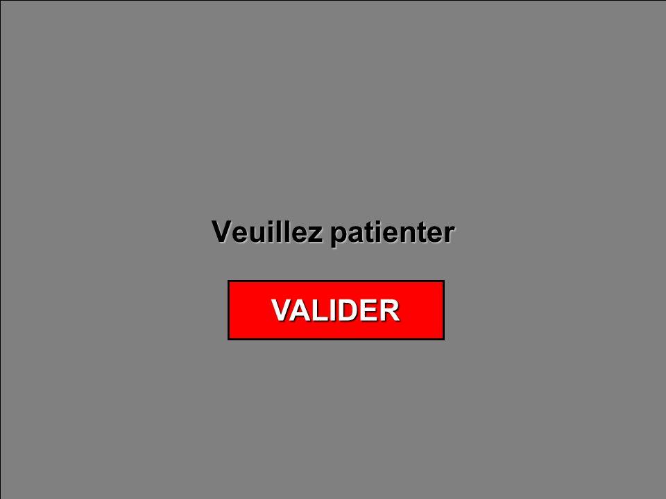 Veuillez patienter VALIDER