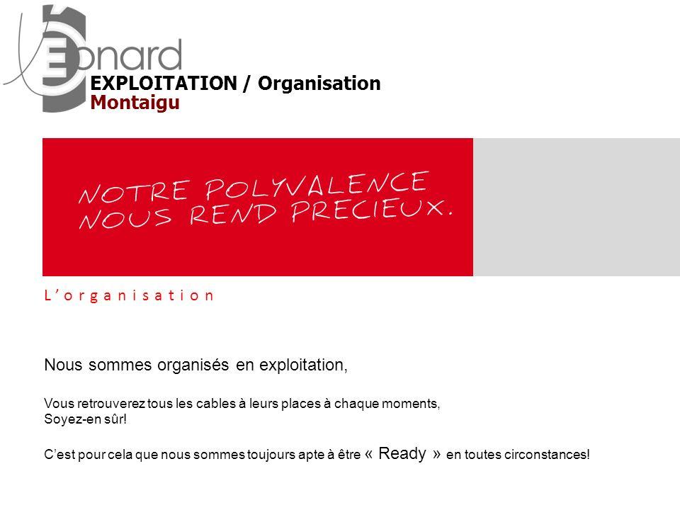 EXPLOITATION / Organisation Montaigu