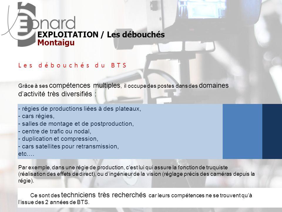 EXPLOITATION / Les débouchés Montaigu