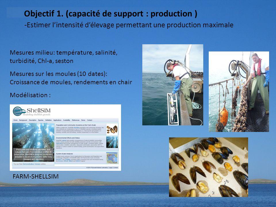 Objectif 1. (capacité de support : production )