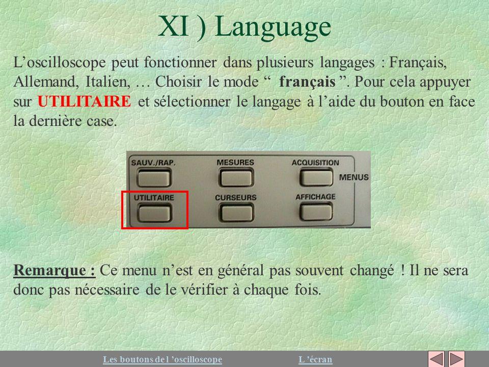 XI ) Language