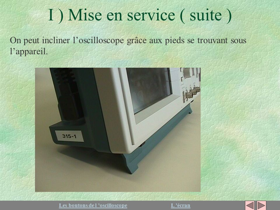 Utilisation de l oscilloscope tektronix tds ppt video online t l charger - Mise en service aquarium ...