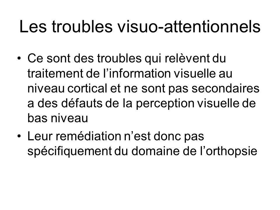 Les troubles visuo-attentionnels