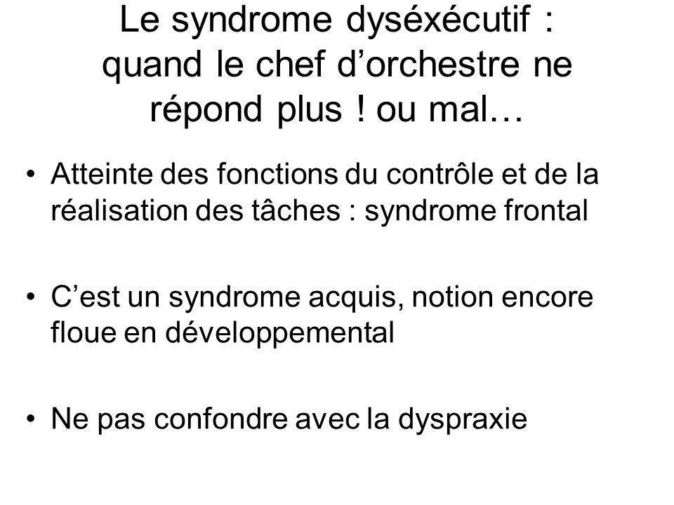 Le syndrome dyséxécutif : quand le chef d'orchestre ne répond plus