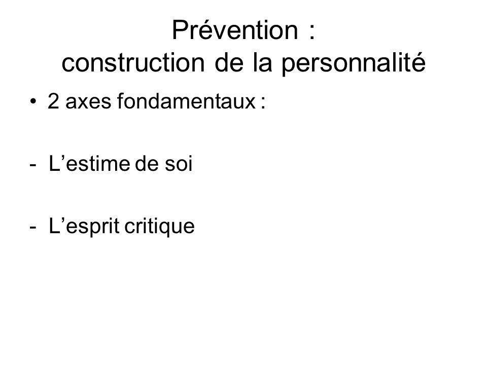 Prévention : construction de la personnalité