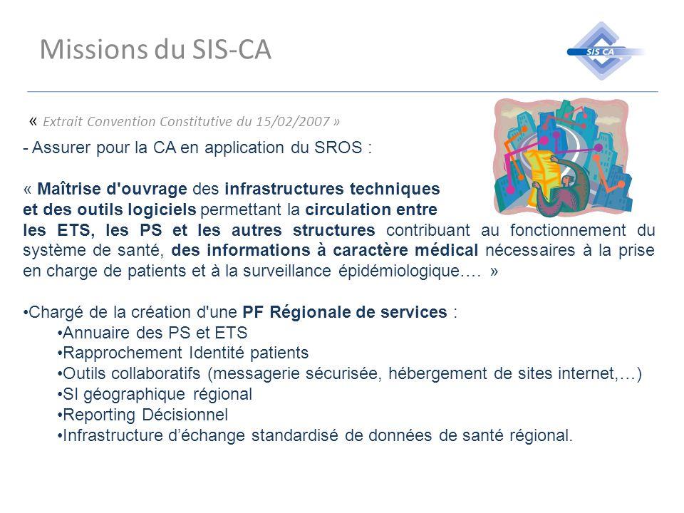 Missions du SIS-CA « Extrait Convention Constitutive du 15/02/2007 »