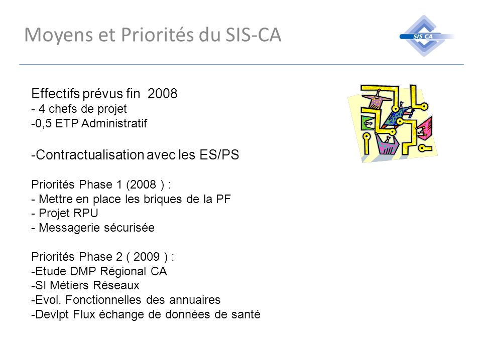 Moyens et Priorités du SIS-CA
