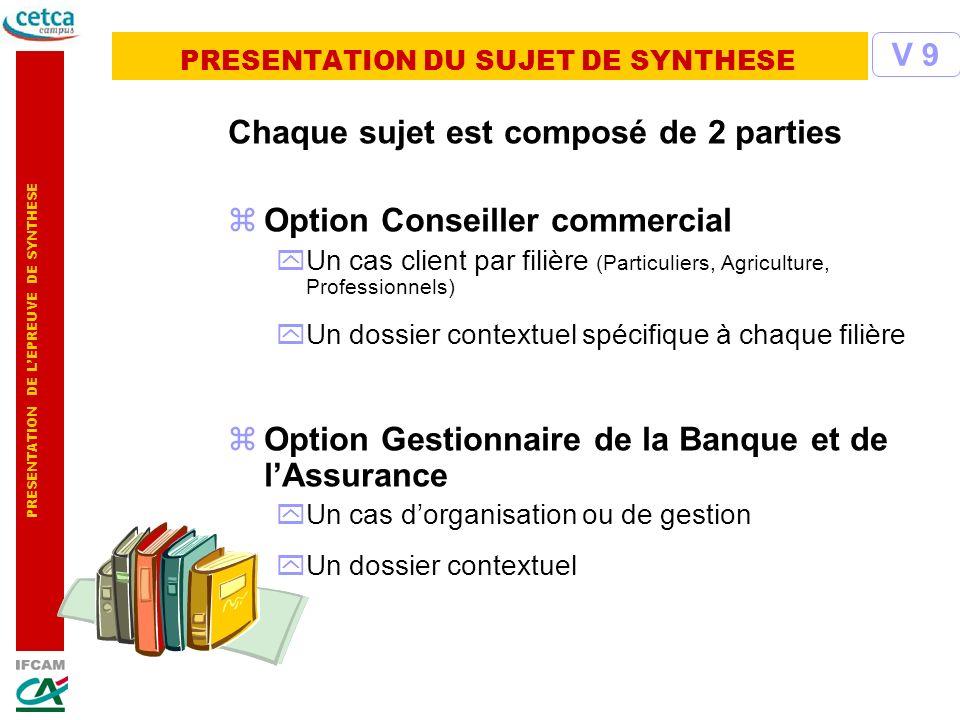 PRESENTATION DU SUJET DE SYNTHESE