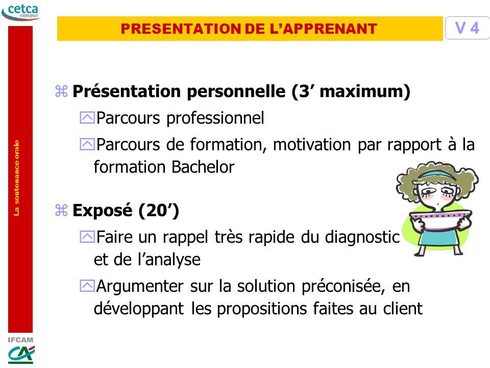 PRESENTATION DE L'APPRENANT